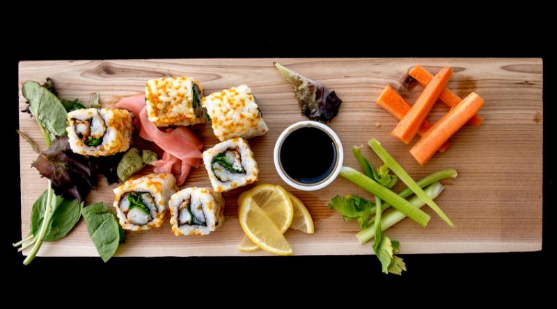 nutrição e sushi